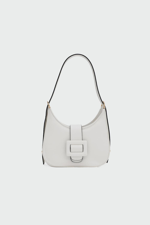 Trina Toka Detaylı Beyaz Kadın Çanta