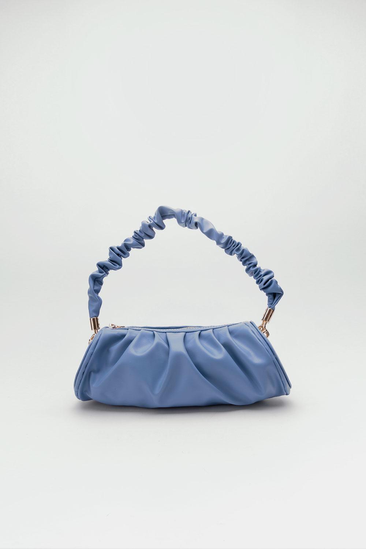 Venüs Pileli Büzgülü Kol Mavi Kadın Çanta