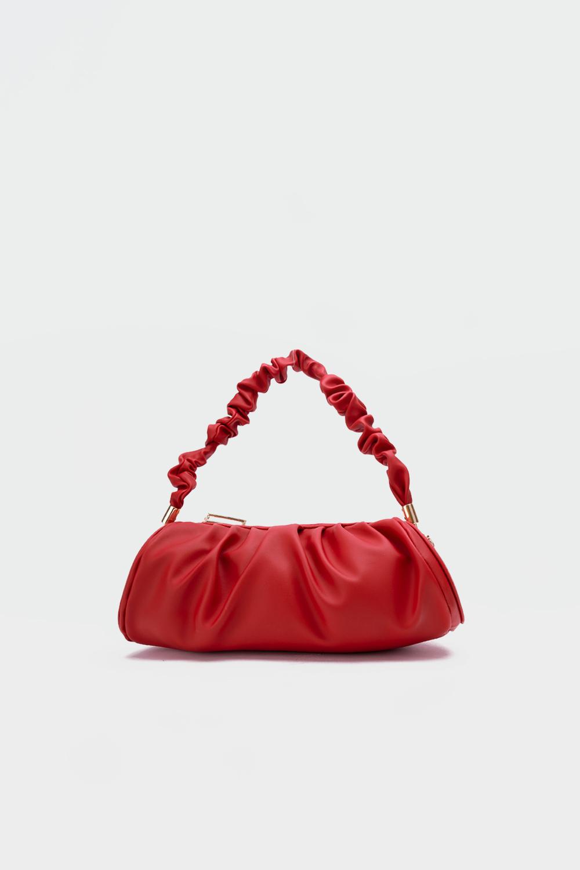 Venüs Pileli Büzgülü Kol Kırmızı Kadın Çanta