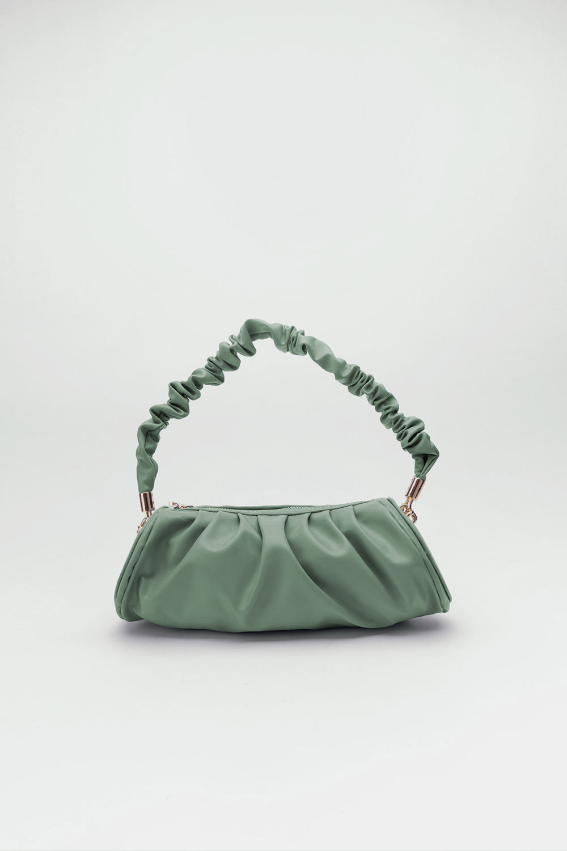 Venüs Pileli Büzgülü Kol Mint Yeşil Kadın Çanta