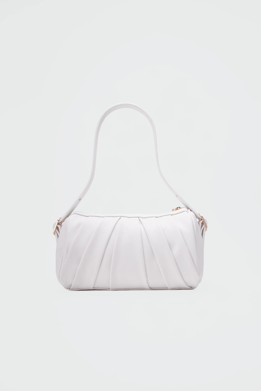 Wolly Silindir Model Kol Askılı Beyaz Kadın Çanta