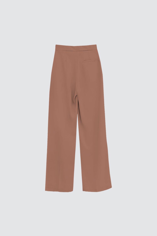 Yüksek Bel Palazzo Model Kahve Kadın Denim / Pantolon