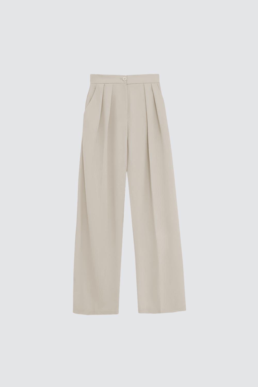 Yüksek Bel Palazzo Model Nude Kadın Denim / Pantolon