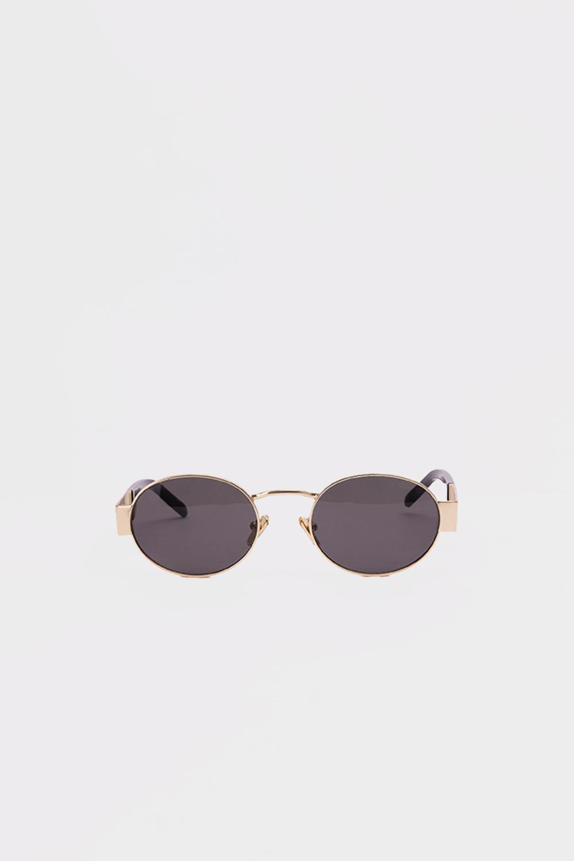 Yuvarlak Çerçeve Metal Kemikli Gold Kadın Gözlük