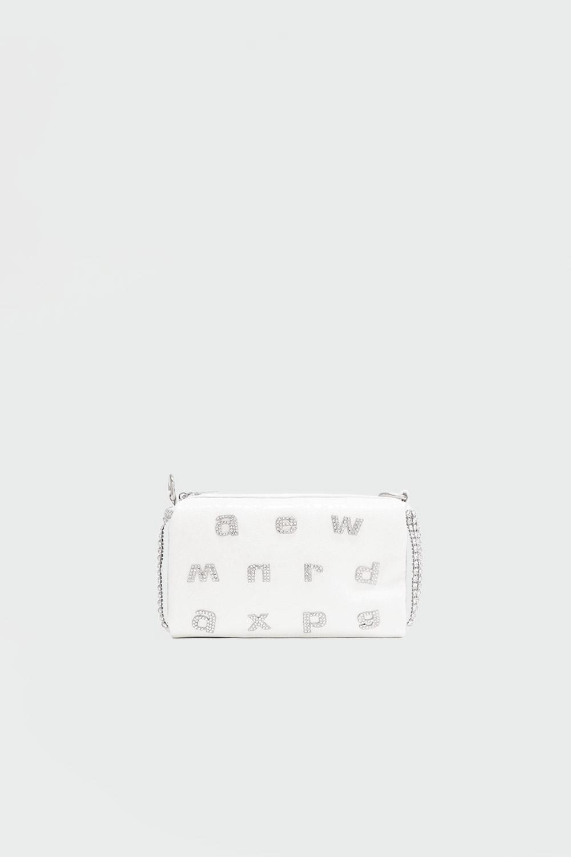 Zooira Taş Detaylı Beyaz Kadın Çanta